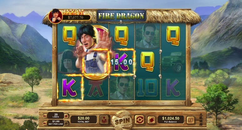 Fire dragon slot by RTG - Raging Bull Casino