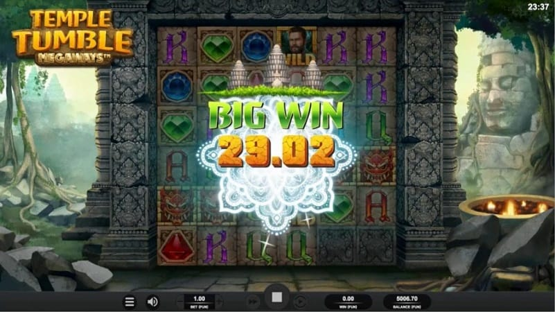 Joo Casino Review - Temple Tumble Pokie by Relax Gaming
