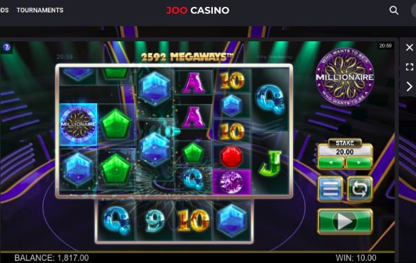 Joo Casino Review - Who wants to be a millionaire