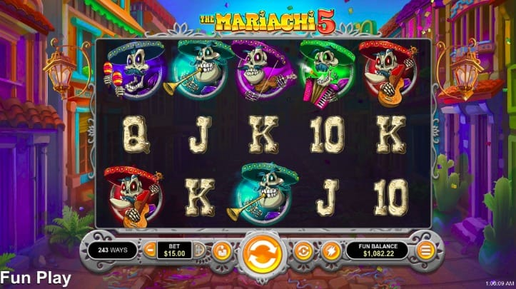 Mariachi 5 Pokie at Two Up Casino
