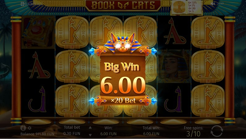 Book of Cats Pokie by BGaming - 7Bit Casino