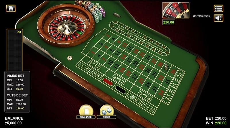 Roulette Game at GetSlots Casino