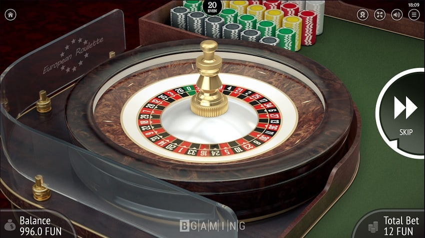 European Roulette by Bgaming at Casinonic