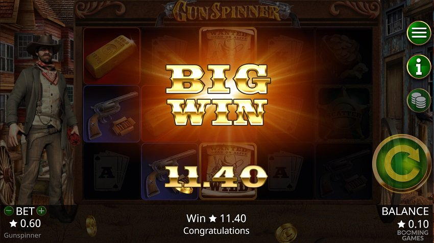 CasinoNic Review - Gunspinner Slot by Booming Games