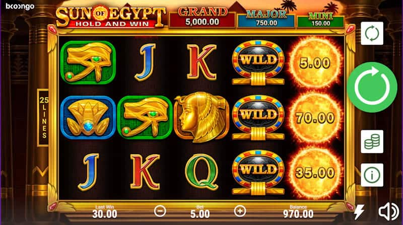 Sun of Egypt Pokie by Boongo