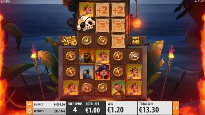 Skulls UP! Pokie Game by Quickspin at King Billy Casino