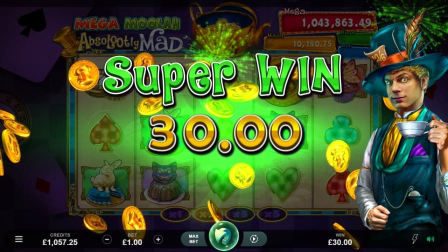 Mega Moolah Absolootly Mad Slot by Microgaming at ViggoSlots Casino