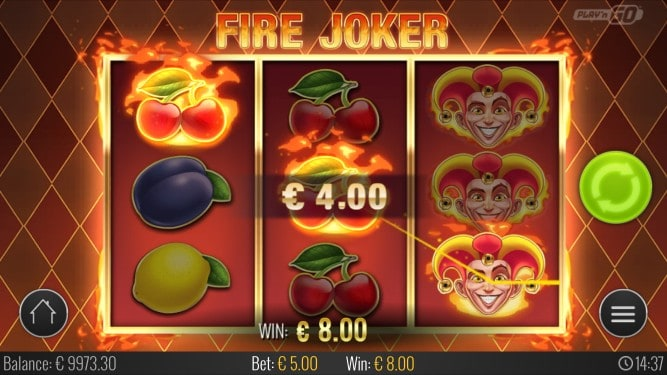 Fire Joker Pokie by Playn'Go at ViggoSlots Casino