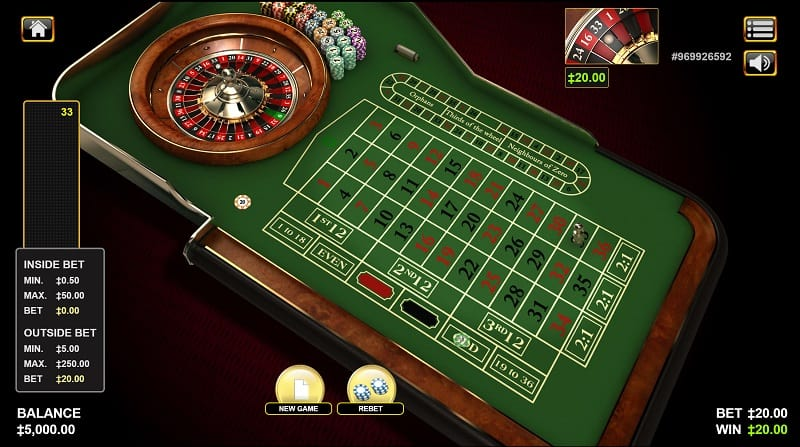 Roulette Game at ViggoSlots Casino