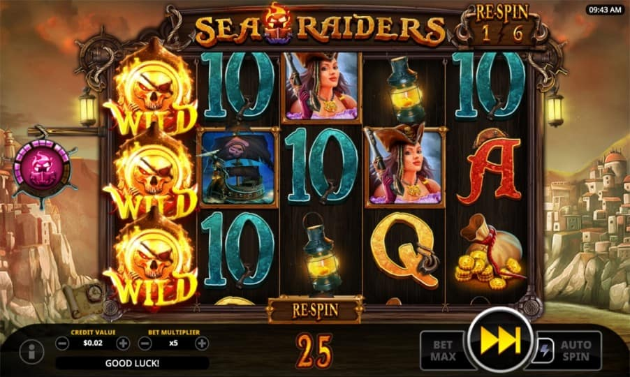 Sea Raiders Pokie by Swintt
