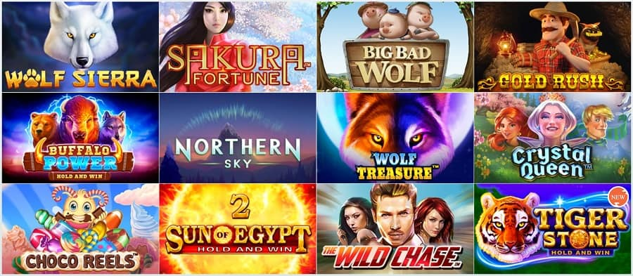 Golden Reels Casino - Top Pokies Section