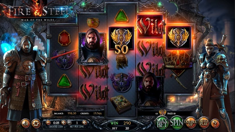 Fire and Steel Slot at Casinomia