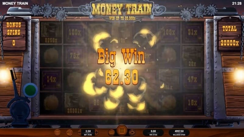Money Train Pokie by Relax Gaming at Casoo