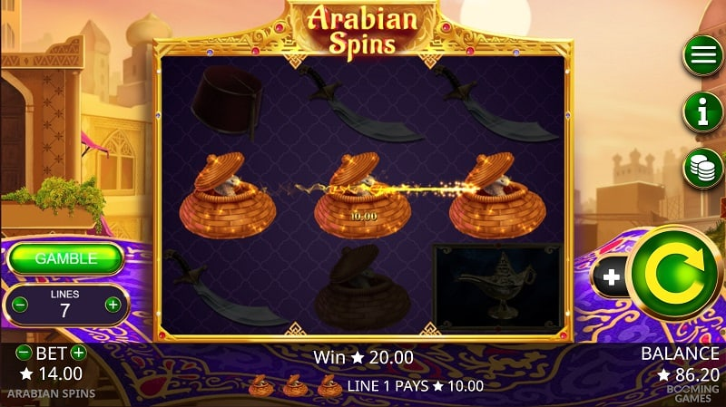 Arabian-Spins Slot by Booming Games at Pokie Place