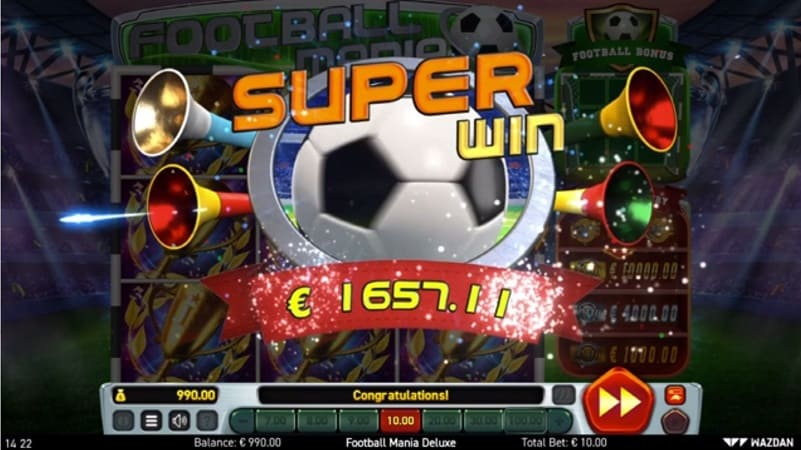 Football Mania Deluxe Slot by Wazdan at QueenSpins