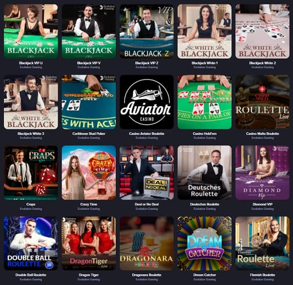 Live Casino Section at QueenSpins