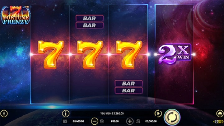 7 Fortune Frenzy - New Pokie by BetSoft - at Nine Casino