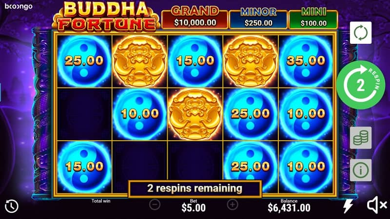 Buddha Fortune Hold and Win Pokie by Booongo at Nine Casino