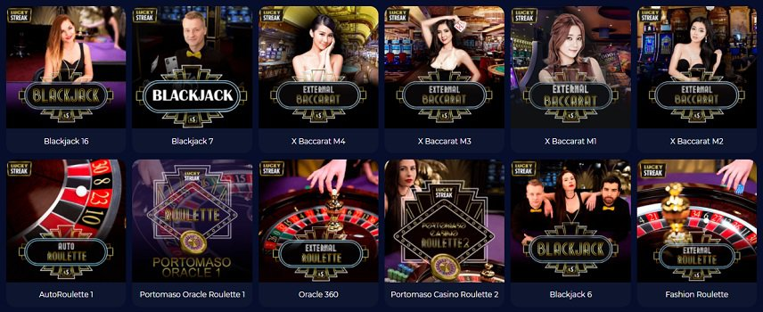 Live Casino Section at Nine Casino