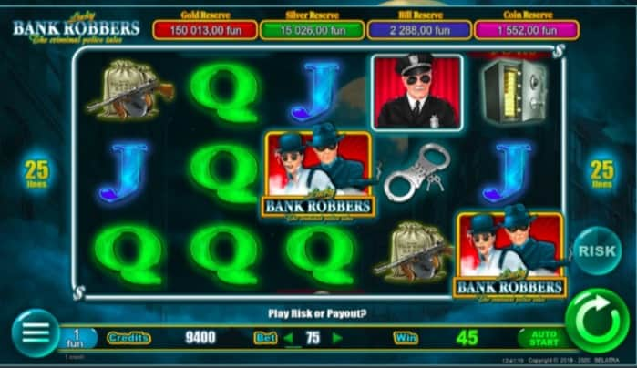 Lucky Bank Robbers Slot Game by Belatra at NineCasino