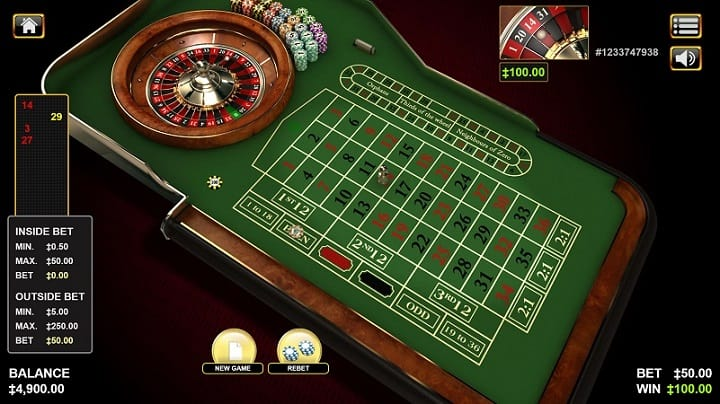 Roulette Game by Habanero at OZ Las Vegas Casino