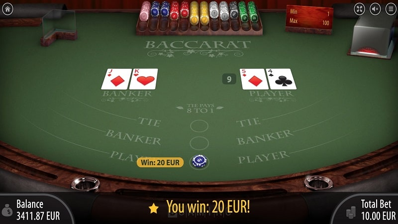 Baccarat Game by Bgaming - Wild Tornado Casino Review