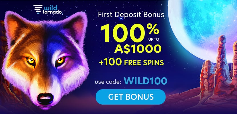 Welcome Bonus + Free Spins - Wild Tornado Review by TopAUcasino